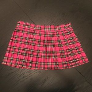 Hustler Lingerie Pink Plaid School Girl Skirt